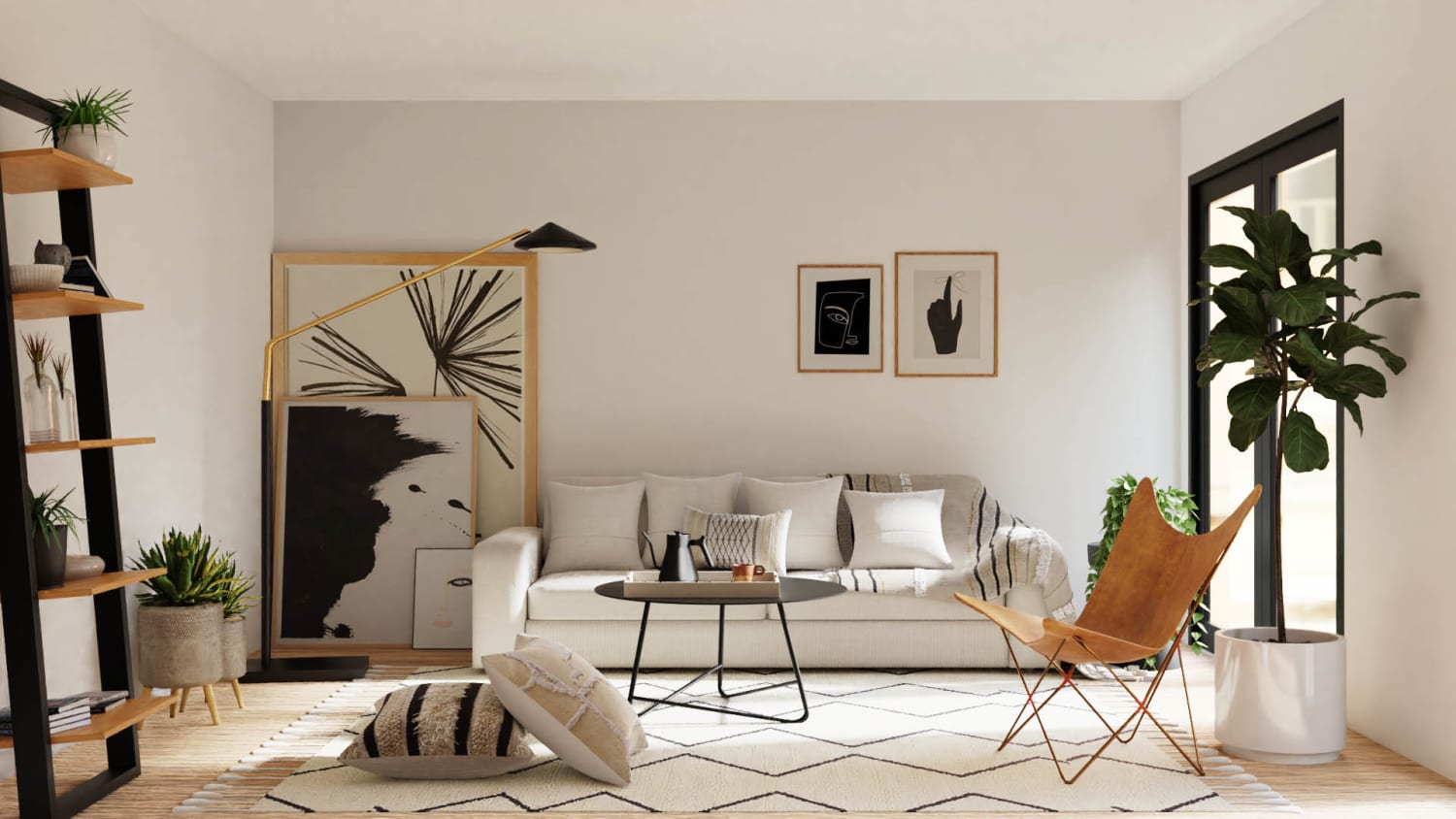 Black+White: Urban Minimalist Home Design By Spacejoy