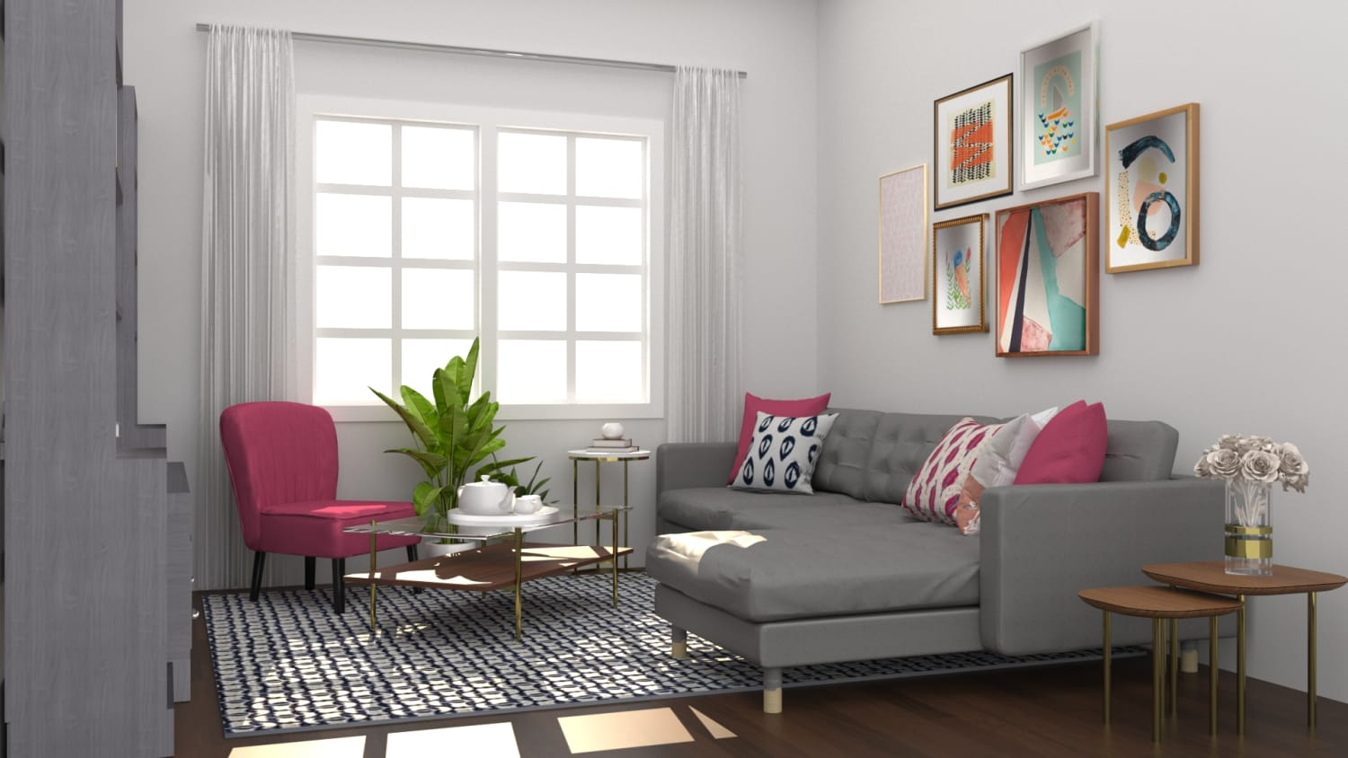 Bold Accents: Modern Eclectic Living Room Design By Spacejoy