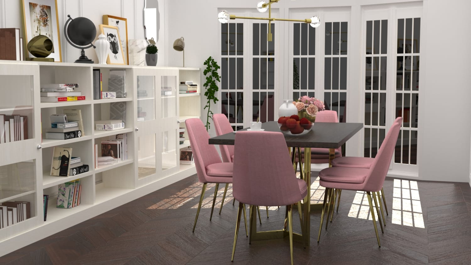 Rose Chic Dining Room Design By Spacejoy