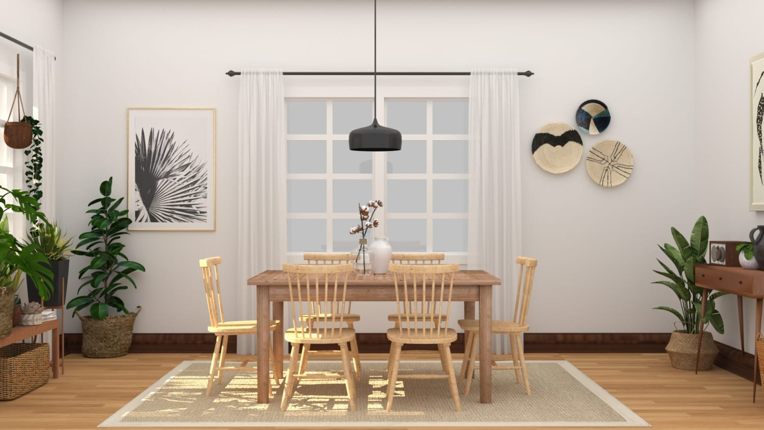 Natural+Organic Dining Room Design By Spacejoy