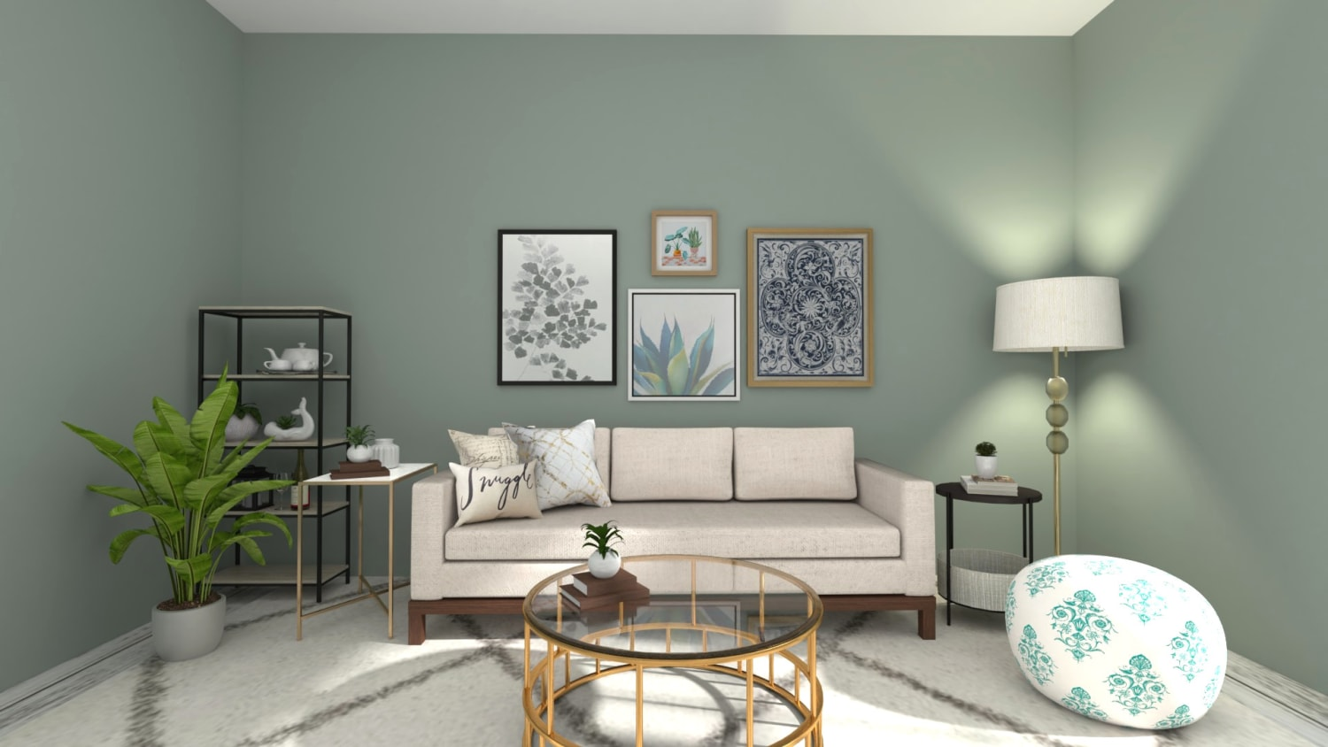 Modern Glam Living Room Design By Spacejoy
