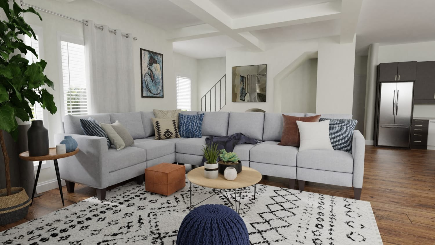 Spacejoy review of Living Room Designed For Zoe