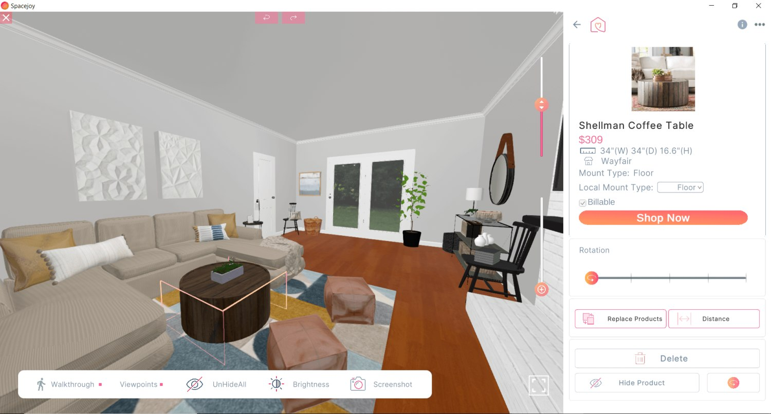 3D Design For Stephanie Miles New Living Room View