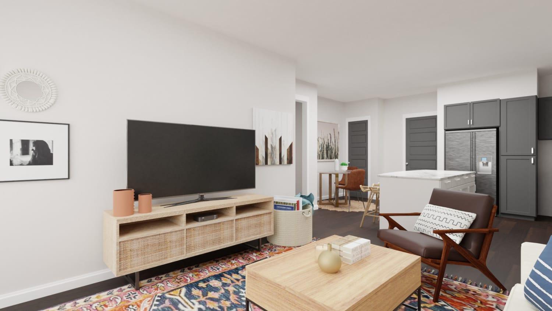 Boho small living room