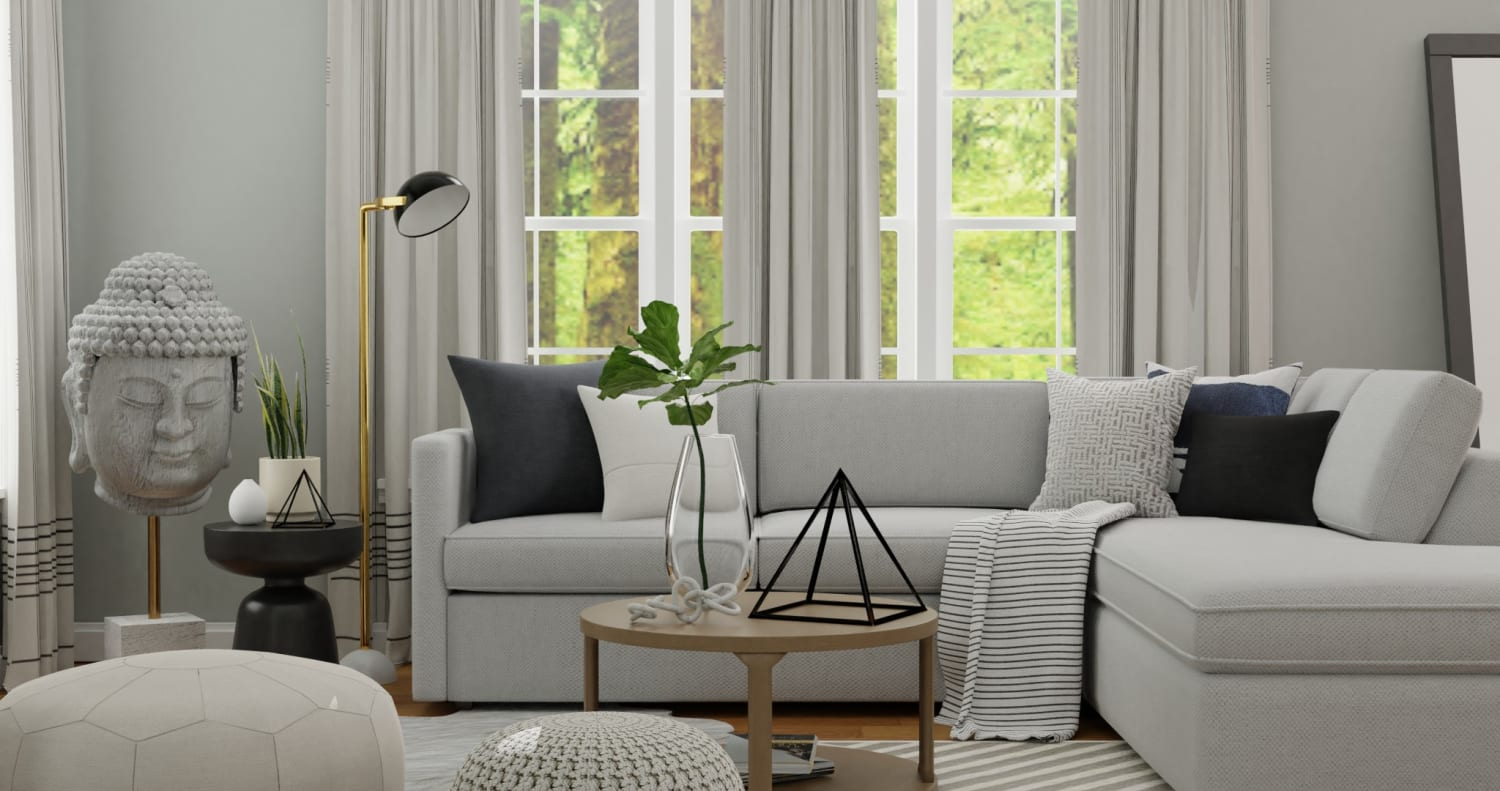 Zen Living Room:  Modern Minimalist Living Room Design By Spacejoy