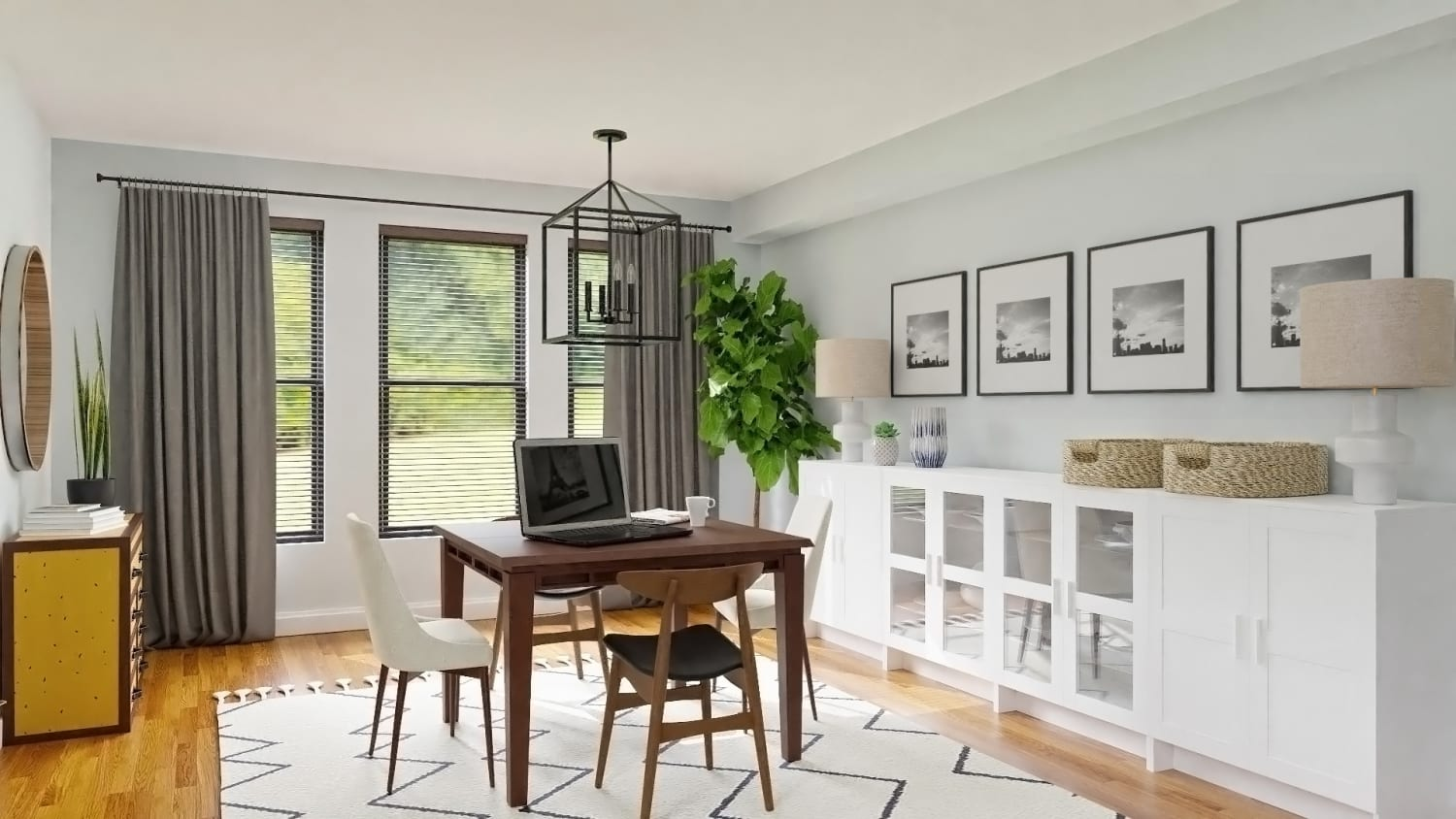 Gallery Wall: Mid Century Modern Dining Room Design By Spacejoy
