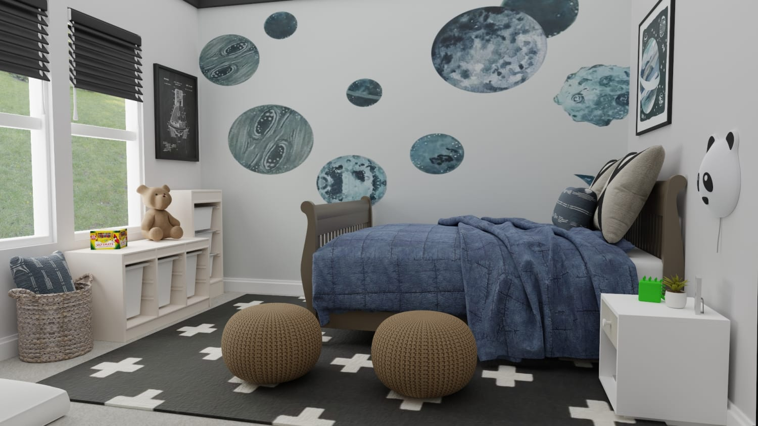 Urban Transitional Kid's Room
