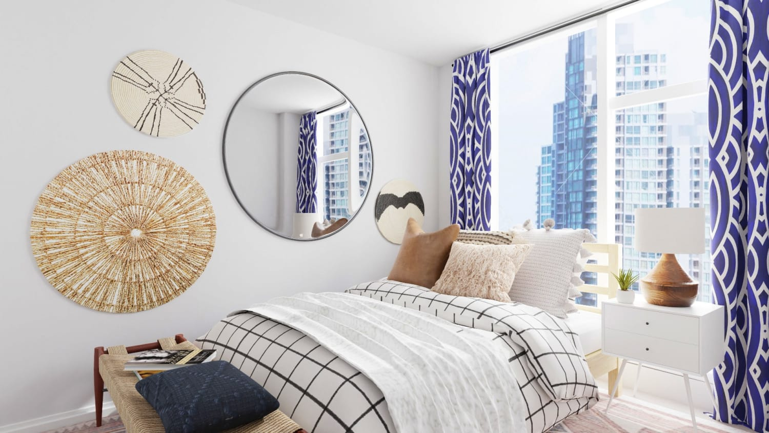 Boho Artwork: Eclectic Bedroom Design By Spacejoy