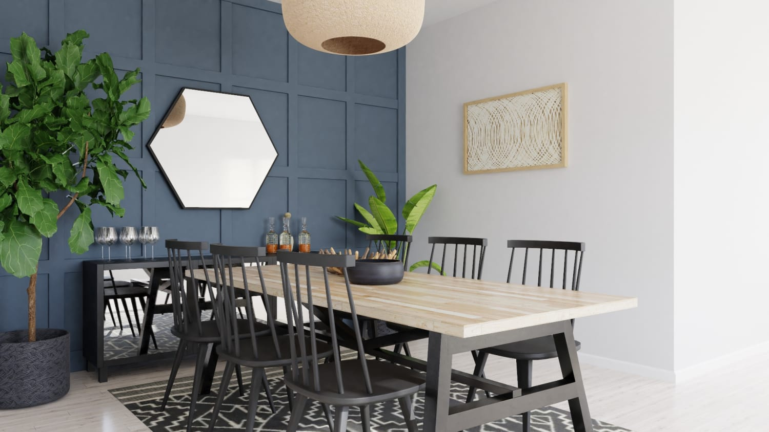 Dinner Party Seating: Modern Farmhouse Design By Spacejoy