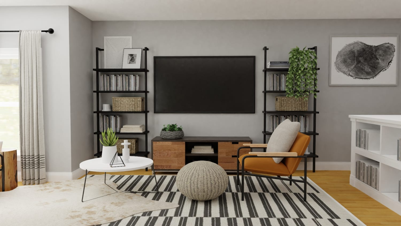 Bohemian Industrial Living Room