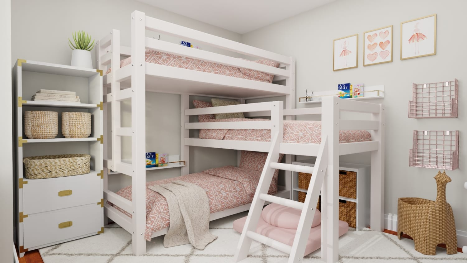 The Most Functional & Adorable Kids Bedroom Design Design By Spacejoy