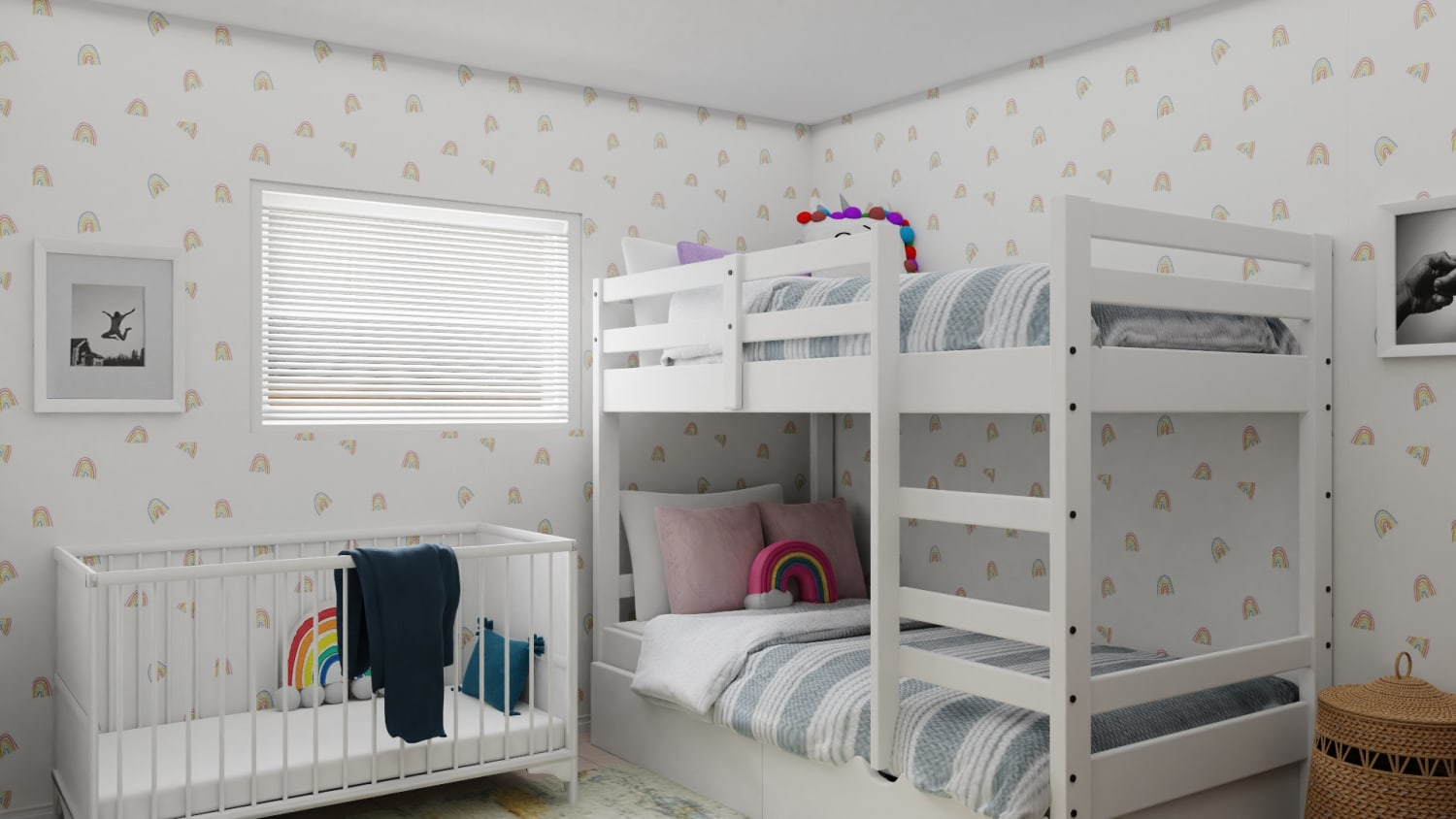 A Transitional Modern Kids Bedroom Designed to Ignite Creativity Design By Spacejoy