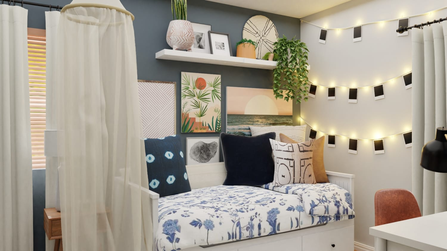 Creative Boho-Eclectic Style Kids Bedroom