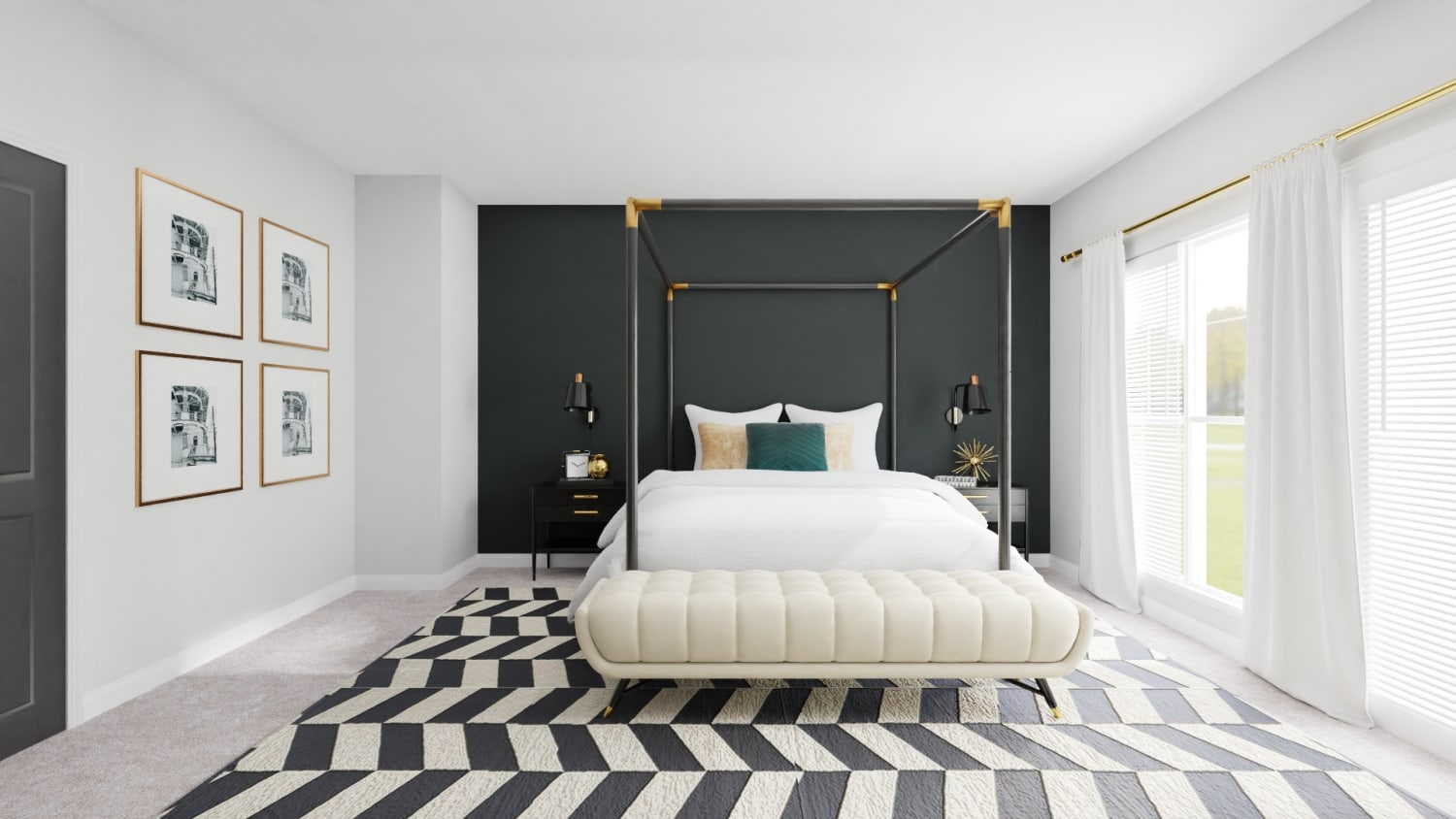A Modern and Bold Bedroom Design That Inspires Luxury Design By Spacejoy