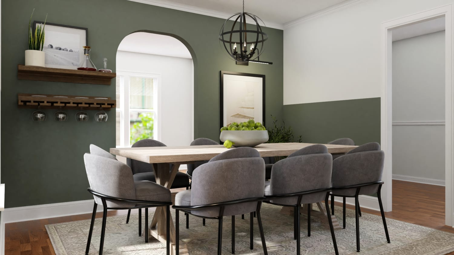 Spacejoy Farmhouse Modern Dining Room