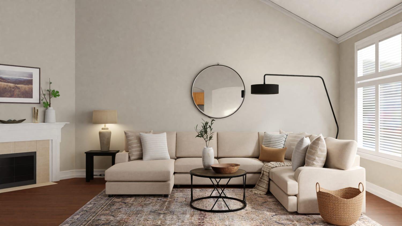 calm boho living room