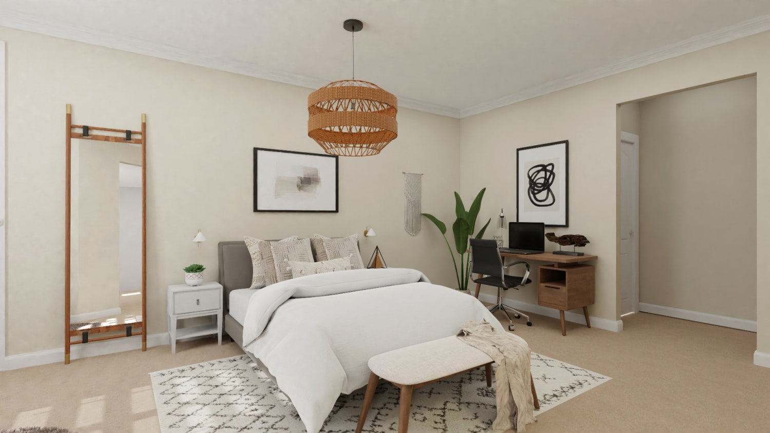 A Bedroom Worthy of Boho Wall-of-Fame Design By Spacejoy