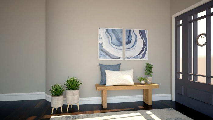 Inviting and Cozy: Modern Farmhouse Entryway Design View 2 By Spacejoy