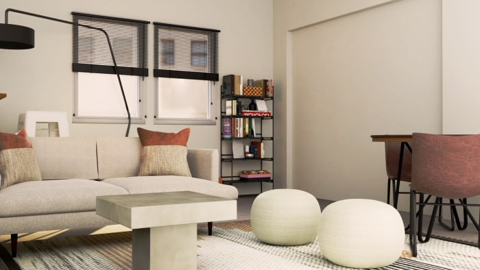 Cozy Industrial Family Room Design View 2 By Spacejoy