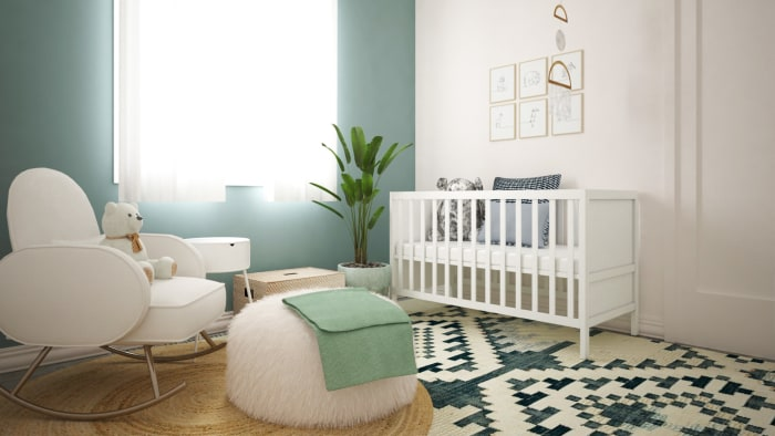 Boho Oasis Nursery Design View 3 By Spacejoy