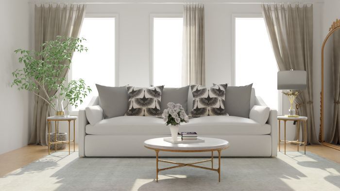 Feminine Classic Living Room Design View 2 By Spacejoy