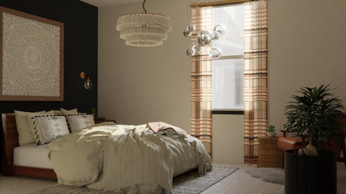 Dramatic Boho Eclectic Bedroom Design View 3 By Spacejoy