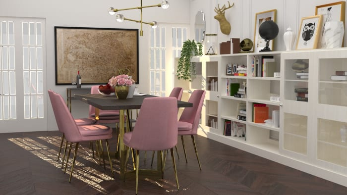 Rose Chic Dining Room Design View 2 By Spacejoy