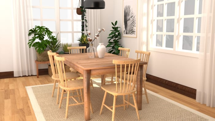 Natural+Organic Dining Room Design View 3 By Spacejoy