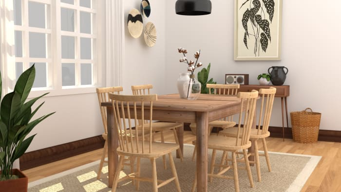 Natural+Organic Dining Room Design View 2 By Spacejoy