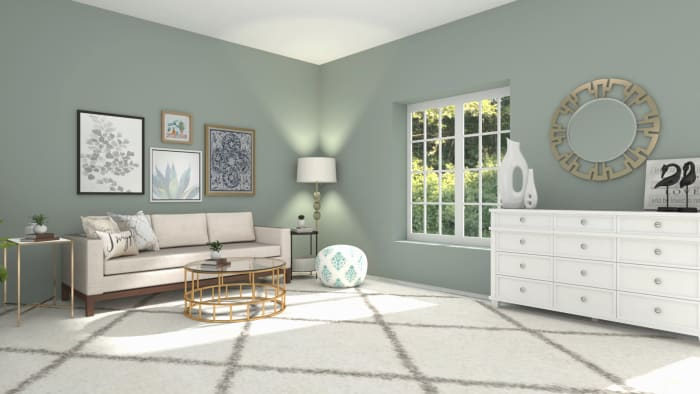 Modern Glam Living Room Design View 2 By Spacejoy