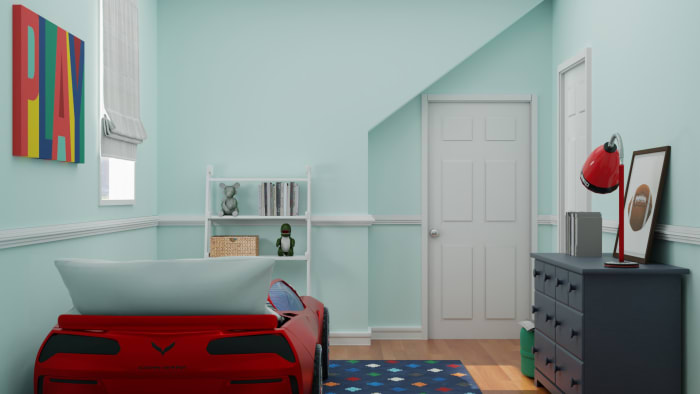 Bright and Peppy Boys Bedroom Design Design View 2 By Spacejoy