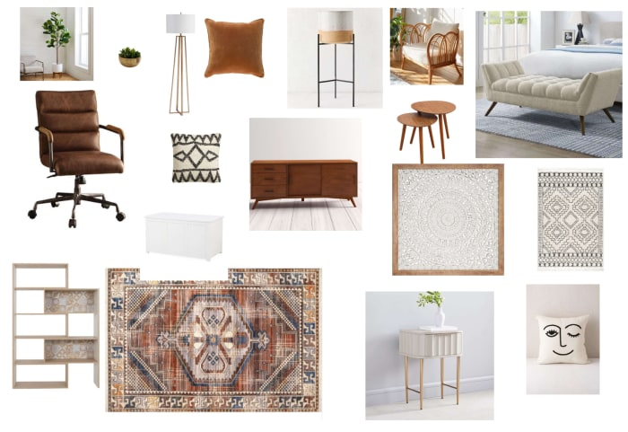 Home Office Moodboard Created For Jen