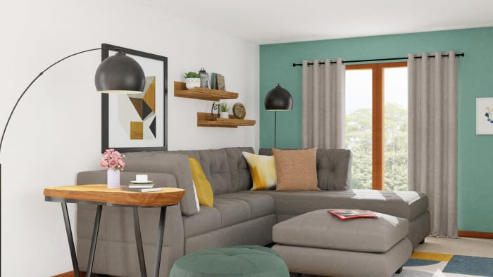 Mid-Century Living Room with Retro Vibes Design View 3 By Spacejoy