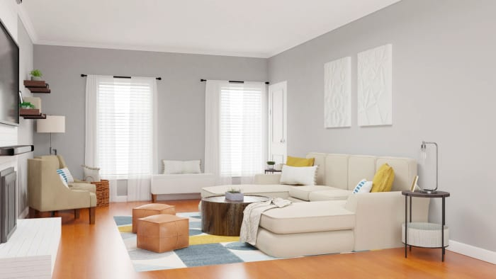Spacejoy review of Living Room Designed For Stephanie Miles 2