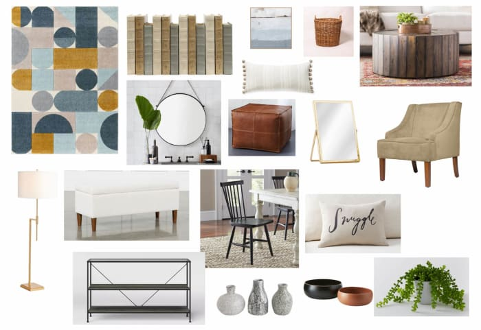 Living Room Moodboard Created For Stephanie Miles