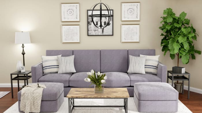 Urban Farmhouse: Living Room Design Design View 5 By Spacejoy