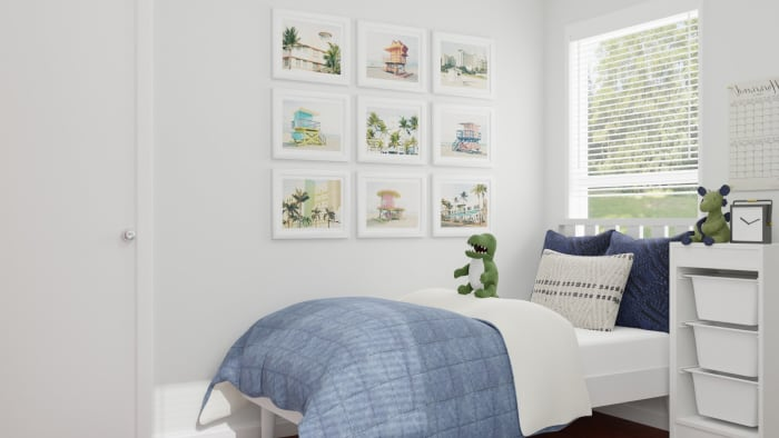 Bright Nautical: Coastal Casual Kid's Bedroom Design View 3 By Spacejoy