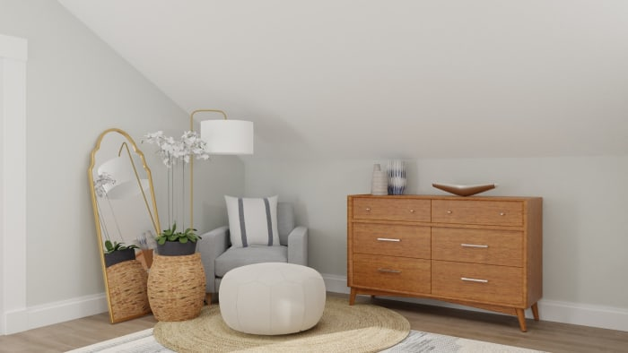 Soft and Earthy: Boho Minimalist Bedroom Design View 4 By Spacejoy