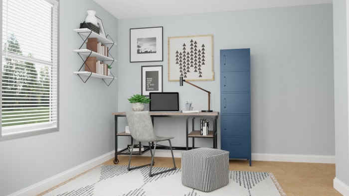 Multi Purpose Office: Modern Urban Home Office Design View 4 By Spacejoy