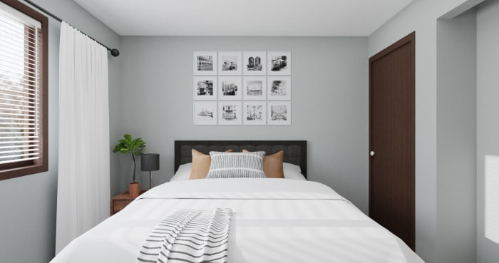 Dorm Room Idea:  Urban Minimalist Bedroom Design View 3 By Spacejoy