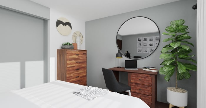 Dorm Room Idea:  Urban Minimalist Bedroom Design View 4 By Spacejoy