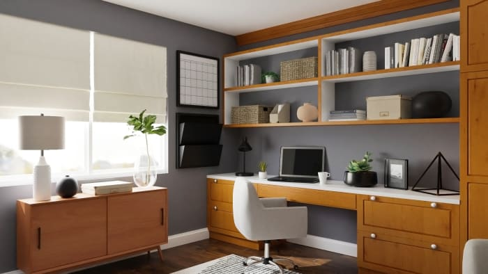 Extra Storage: Urban Modern Office Design View 3 By Spacejoy