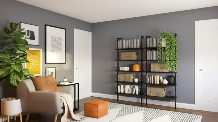 Extra Storage: Urban Modern Office Design View 4 By Spacejoy