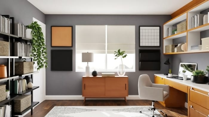 Extra Storage: Urban Modern Office Design View 5 By Spacejoy