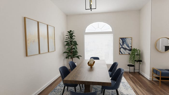 Large Seating Space: Modern Traditional Dining Room Design View 5 By Spacejoy
