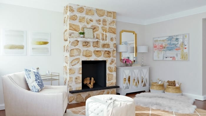 Reading Retreat: Glam Transitional Living Room Design View 4 By Spacejoy