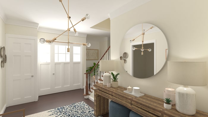 Sputnik Chandelier: Modern Farmhouse Entry Design View 5 By Spacejoy