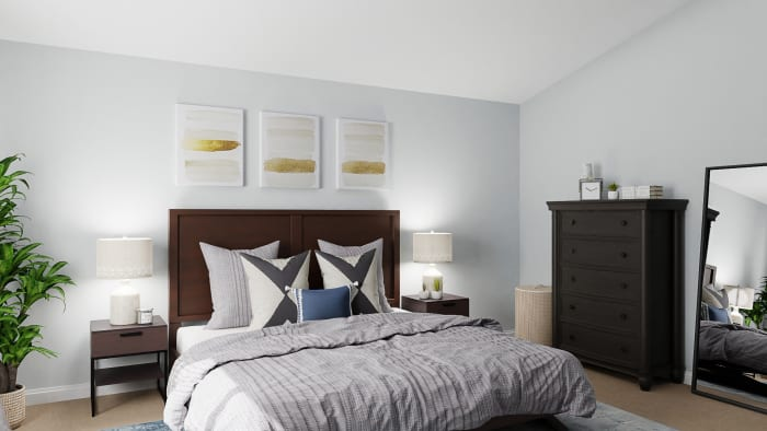 Reading Nook: Urban Transitional Bedroom Design View 3 By Spacejoy