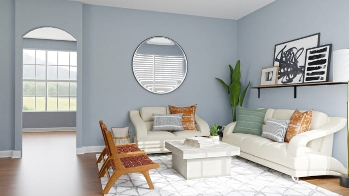 Small Spaces:  Urban Modern Living Room Design View 2 By Spacejoy