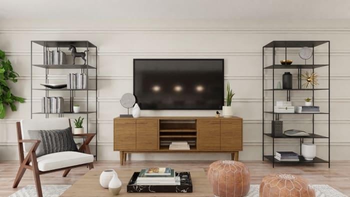 Extra Seating: Urban Modern Living Room Design View 2 By Spacejoy